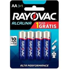 Pilha Alcalina AA Rayovac Leve 4 Pague 3
