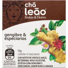 Chá de Flores e Frutas Gengibre & Especiarias Chá Leão 16g 10 Sachês