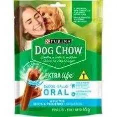 Petisco para Cães Adultos Raças Minis e Pequenas Purina Dog Chow Saúde Oral 45g