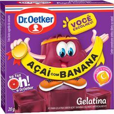 Gelatina em Pó Sabor Açaí com Banana Dr. Oetker 20g