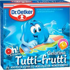 Gelatina em Pó Sabor Tutti Frutti Dr. Oetker 20g