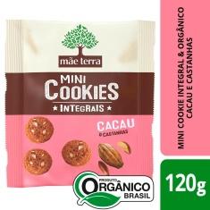 Mini Cookies Integral Sabor Banana e Castanha Mãe Terra 120g