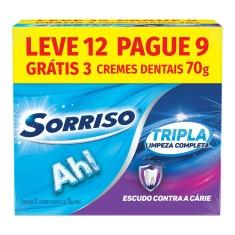 Creme Dental Sorriso Tripla Limpeza Completa 70g Leve 12 Pague 9