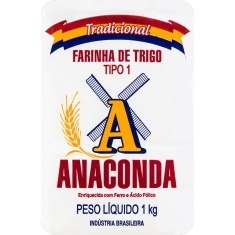 Farinha de Trigo Tipo 1 Anaconda 1kg