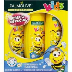 Kit 2 Shampoos + 1 Condicionador Camomila Kids Palmolive Naturals 350ml Cada