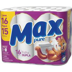 Papel Higiênico Max Pure 30m Leve 16 Pague 15