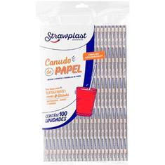 Canudo de Papel Strawplast 6mm 20cm 100un