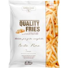 Batata Congelada Corte Fino Quality Fries Golden Foods 2,5Kg