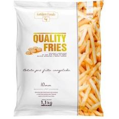 Batata Congelada Quality Fries Golden Foods 1,1Kg