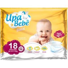 Fralda Descartável Upa Bebê Basic Tamanho G 18un