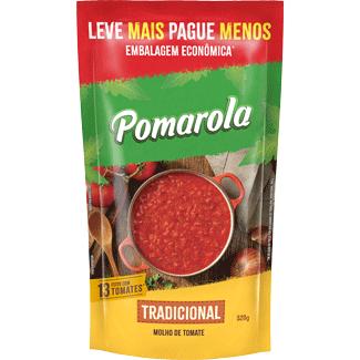 Molho de Tomate Tradicional Pomarola Sachê 520g