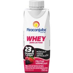 Bebida Láctea Whey Frutas Vermelhas Piracanjuba 250ml