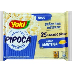 Milho Yoki para Pipoca Pop Corn Manteiga 90g