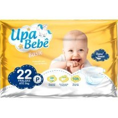 Fralda Descartável Upa Bebê Basic Tamanho P 22 UN