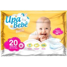 Fralda Descartável Upa Bebê Basic Tamanho M 20un