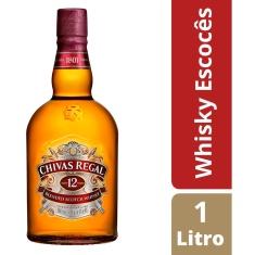 Whisky Escocês 12 Anos Chivas Regal 1L