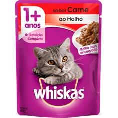 Alimento para Gatos Sabor Carne Whiskas 85g