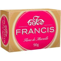Sabonete Francis Clássico Vermelho Buquê Floral 90g