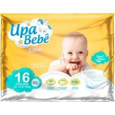 Fralda Descartável Upa Bebê Basic Tamanho XG 16un