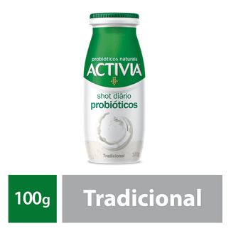 Leite Fermentado Tradicional Shot Activia 100g