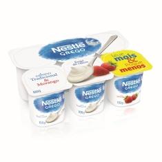 Iogurte Grego sabor Tradicional e Morango Nestlé 600g