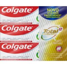 Creme Dental Antitártaro Total 12 Colgate 6 Unidades 90g