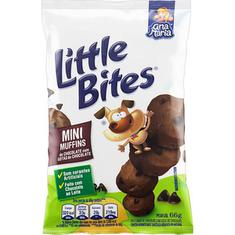 Mini Muffins de Chocolate com Gotas de Chocolate Little Bites 66g