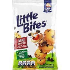 Mini Muffins de Baunilha com Gotas de Chocolate Little Bites 66g