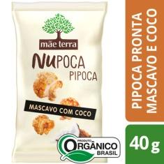 Pipoca Nupoca Mascavo com Coco Mãe Terra 40g