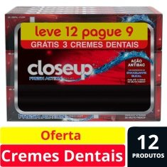 Creme Dental Red Hot Close-Up 90g Leve 12 Pague 9