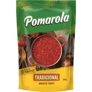 Molho de Tomate Tradicional Refogado Pomarola Sachê 340g