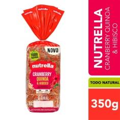 Pão Cranberry, Quinoa & Hibisco Nutrella 350g