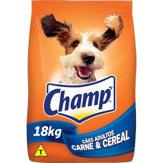 Ração para Cães sabor Carne e Cereais Champ 18kg
