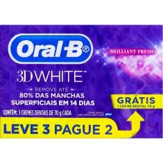 Creme Dental 3D White Brilliant Fresh Oral B Leve 3 Pague 2 Un 70g Cada