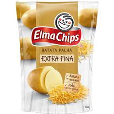 Batata Palha Extra Fina Na Mesa Elma Chips 100g