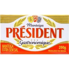 Manteiga Extra sem Sal Président 200g