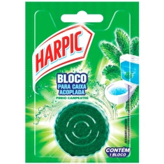 Bloco Sanitário para Caixa Acoplada Pinho Harpic 50g