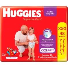 Fralda Descartável Infantil Roupinha Supreme Care Huggies XXG 48 Unidades