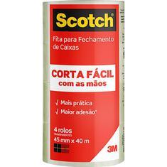 Pack Fita Corta Fácil Transparente Scotch 45mm x 40m 4 un.