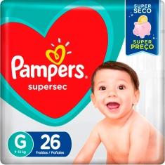 Fralda Pampers Supersec G 26 Und.