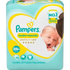 Fralda Pampers Premium Care RN+ 20 unidades