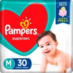 Fralda Pampers Supersec M 30 Und