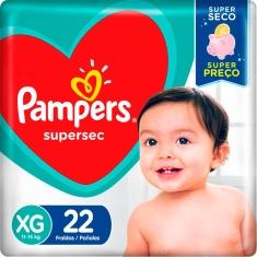 Fralda Pampers Supersec XG 22 Und