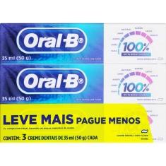 Creme Dental Menta Refrescante 100% Oral B 3 Un 50g Cada