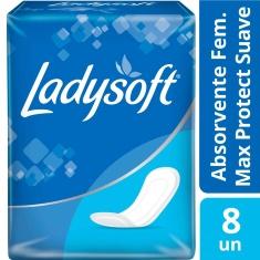 Absorvente Normal Suave Sem Aba Ladysoft 8 Unidades