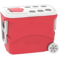 Caixa Térmica Tropical com Rodas Vermelhas Soprano 50L