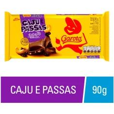 Chocolate com Caju e Passas Garoto 90g