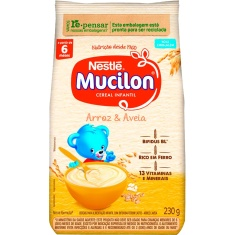 Cereal Infantil de Arroz e Aveia Mucilon 230g