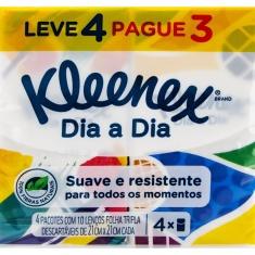 Lenço de Papel Original Kleenex Leve 4 Pague 3un.