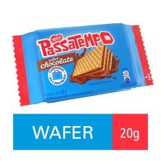 Mini Wafer Recheado Sabor Chocolate Passatempo Nestlé 20g